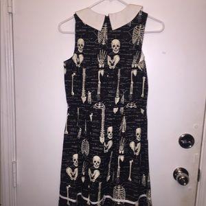 Modcloth Dresses - Skull/Anatomy Black&White Dress (glow in the dark)